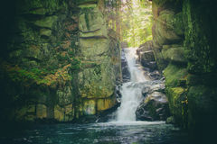 Vintage photo of waterfall Stock Photography