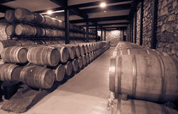 Vintage photo of wine cellar Royalty Free Stock Photography