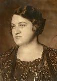 Vintage photo of woman Stock Photo