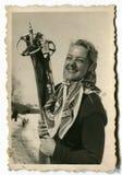 Vintage photo of woman royalty free stock photo