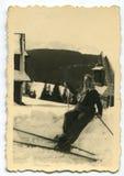 Vintage photo of woman Stock Image