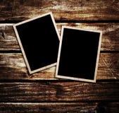 Vintage photo on wood plank Stock Images