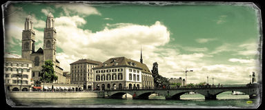 Vintage photo of Zurich Royalty Free Stock Image