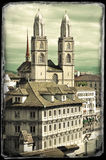 Vintage photo of Zurich Stock Images