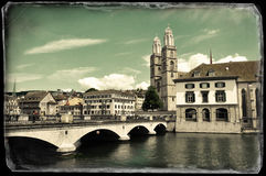 Vintage photo of Zurich Royalty Free Stock Photos