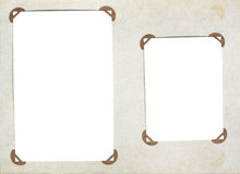Vintage photoalbum with photo frames. Old page of vintage photoalbum with photo frames Royalty Free Stock Image