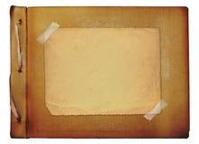 Vintage photoalbum for photos. On white isolated background Stock Photography
