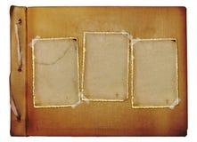 Vintage photoalbum for photos. On white isolated background Royalty Free Stock Photos