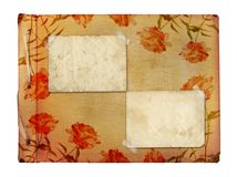 Vintage photoalbum for photos with frames Royalty Free Stock Image