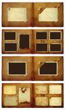 Vintage photoalbum for photos on  isolated background Stock Images