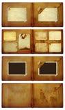 Vintage photoalbum for photos on  isolated background Stock Photo