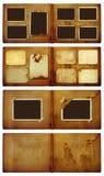 Vintage photoalbum for photos on  isolated background Stock Image