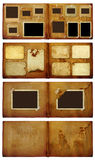 Vintage photoalbum for photos on  isolated background Royalty Free Stock Photos