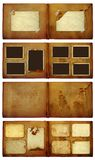 Vintage photoalbum for photos on  isolated background. Set of vintage photoalbum for photos on white isolated background Stock Photography