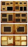 Vintage photoalbum for photos on  isolated background. Set of vintage photoalbum for photos on white isolated background Royalty Free Stock Image