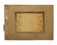 Vintage photoalbum for photos. On white isolated background Stock Images