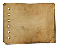 Vintage photoalbum for photos. On white isolated background Royalty Free Stock Images