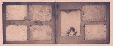 Vintage photoalbum for photos on  isolated background. Vintage photoalbum for photos on white isolated background Stock Images
