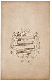 Vintage Photograph. Old frame for design use Royalty Free Stock Image