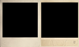 Vintage photograph. Front and rear views. Blank space for a photo Royalty Free Stock Photography