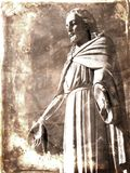 Vintage Photograph of Statue of Jesus Christ Stock Photography