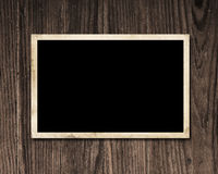 Vintage photograph on wood. Royalty Free Stock Photography