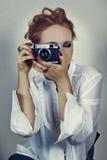 Vintage photographer Royalty Free Stock Image