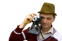 Vintage photographer Royalty Free Stock Photo