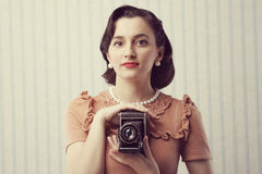 Vintage photographer Stock Images