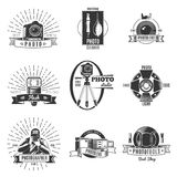 Vintage Photographer Label Set Stock Photography