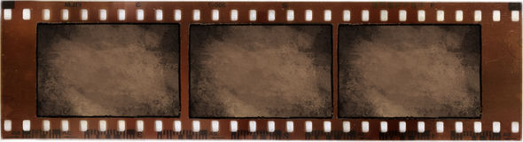 Vintage on photographic film. A film camera with three Vintage sepia texture framed Stock Image