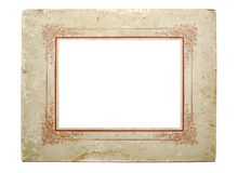 Vintage photographic frame. Very old cardboard photographic frame from the beginning of the last century, isolated on white background Royalty Free Stock Image