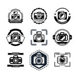 Vintage photography badges or logos Royalty Free Stock Images