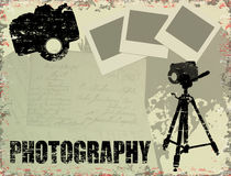 Vintage photography poster Royalty Free Stock Photo