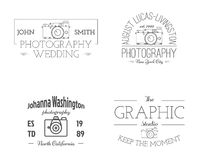 Vintage Photography studio Badges, Labels Royalty Free Stock Photo