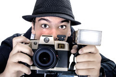 Vintage photojournalist Royalty Free Stock Image