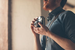 Vintage photojournalist Royalty Free Stock Images
