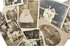 Vintage Photos. A collection of family photos from the 1800's to 1940's Royalty Free Stock Photo