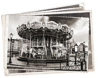 Vintage photos Carousel Stock Photography