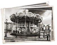 Vintage photos Carousel stock photography