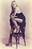 Vintage photos of girls Royalty Free Stock Image