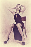 Vintage photos of girls Stock Photo