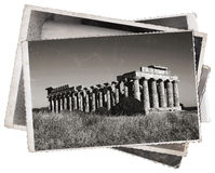 Vintage photos Greek temple Stock Images