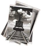 Vintage photos Old locomotive Stock Photos