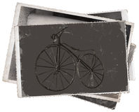 Vintage photos Old wooden bicycle Stock Image