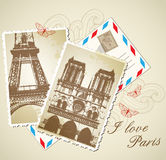 Vintage photos of Paris Royalty Free Stock Photography