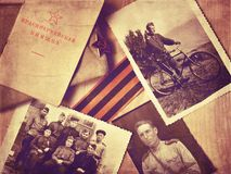 Vintage photos of World War II royalty free stock photography