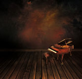 Vintage piano on Art abstract background Royalty Free Stock Photo