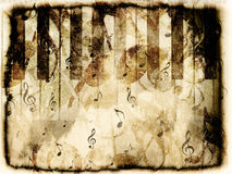 Vintage piano background Royalty Free Stock Photo