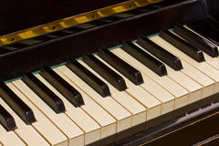 Vintage piano keyboard Stock Photography